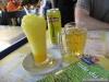 Mango shake et bière