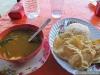 Curry végétarien et papadum