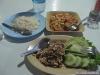 Lab kai (salade poulet au piment) et poulpe