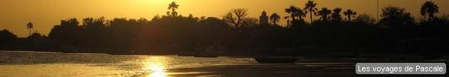 Coucher de soleil sur Ndangane