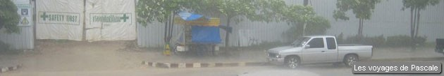 Grosse pluie à Krabi