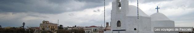 Eglise sur le port d'Egine