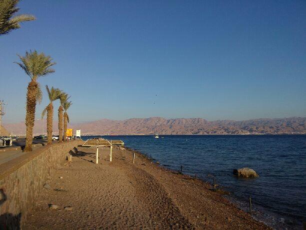 Petite plage près de l'Égypte