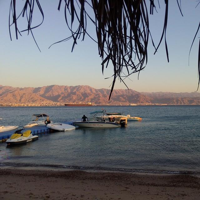 Coucher de soleil sur la Jordanie