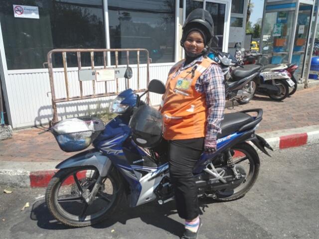 Madame moto taxi